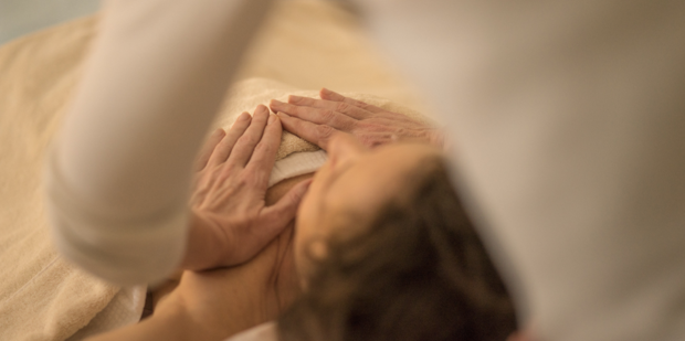 Women breast massage