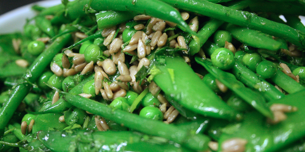 Thumb big pr 0088 green beans  mange tout  sugar snaps with sunflower seeds nh